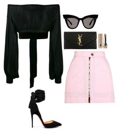 """""""Night Out In Cali"""" by pink-chick ❤ liked on Polyvore featuring Yves Saint Laurent, Isabel Marant, Marc Jacobs and Christian Louboutin"""