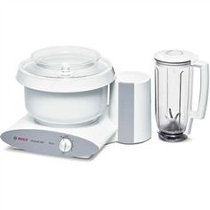 The Bosch MUM6N11UC is a Universal Plus Mixer with blender which has a 800 watt motor with 4 speeds and pulse/momentory switch.