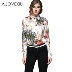 c7befde962b97 LOVEXIU Multicolor Floral Print Tops Blouses Casual 2017 Blouses Shirts For  Women Floral Long Sleeve silk Buttons Women Blouse