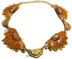 Daisy Choker Collar Style Necklace   Fall by HowlingDogJewelry, $35.00