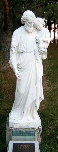St. Joseph and Baby Jesus statue at Marylake