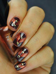 Geometric Nail Art w/ Fall Colours