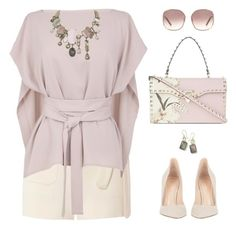 """""""A Sassy Lady"""" by kearalachelle ❤ liked on Polyvore featuring Valentino, Gianvito Rossi, Helmut Lang, TIBI, Chloé, Ippolita and Swarovski"""