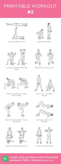 #2 –illustrated exercise plan created at WorkoutLabs.com • Click for a printable PDF and to build your own #customworkout