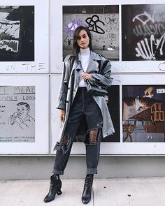 Gizele Oliveira - Saint Laurent Trench Coat, Chanel Bag, Levi's® Pants, Opening Ceremony Boots, Alexander Wang Sweater - Halloween outfit