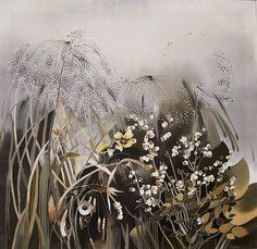 silk painting_ artwork_marsh grass | Flickr - Photo Sharing!