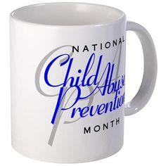 Child Abuse Prevention Mug on CafePress.com
