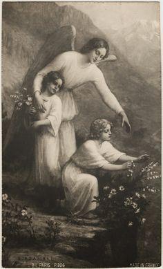 Enkelipaikka. Enkelikortit, suojelusenkelit: Vanha kuva enkelistä