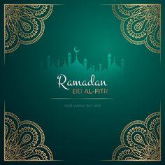 Diseño de tarjeta de felicitación de ramadan kareem con mandala