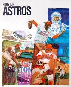 Vintage Houston Astros 1971 ProMotions MLB Baseball Theme Art Poster - Sold for $29.99 May 2013