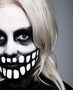 Karin Dreijer Andersson. Skeleton makeup idea for Halloween perhaps?