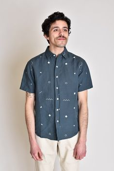 a092fb85bb7 Summer Shirt - Blue Geometry