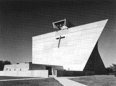 St. Francis de Salles in Muskegon, MI by Marcel Breuer. Fantastic brutalist church.