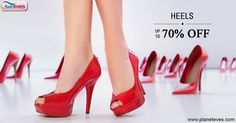 Shop Heels which match with your dress color and get upto 70% discount at Planeteves.com. Free Shipping & COD Available.