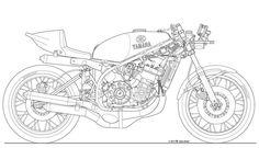 Yamaha TZ750D Draw