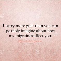 #thedailymigraine #chronicmigraine #migraine #migraineguilt