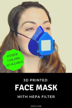 printed face mask with filter and exhale valve, comfortable, reusable, made in the USA What Is 3d Printing, 3d Laser Printer, 3d Printer Projects, 3d Printing Service, 3d Printing Technology, Hepa Filter, Natural Herbs, Better Life, Filters