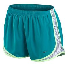 Womens Nike Printed Side Panel Tempo Shorts - Work it! Nike Outfits, Sporty Outfits, Athletic Outfits, Athletic Clothes, Sporty Clothes, Nike Clothes, Athletic Gear, Nike Shoes Cheap, Nike Free Shoes