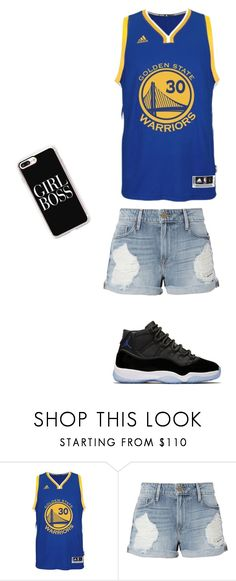 """Basketball beauty"" by ayelowkeyj ❤ liked on Polyvore featuring adidas, Frame and Casetify"
