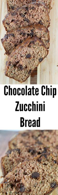 Easy Chocolate Chip Zucchini Bread Recipe