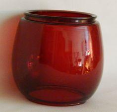 Red Glass Railroad / Barn Lantern Globe, Red Lamp Globe, Lantern Glass