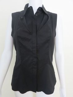 Size CUE Shirt Black Sleeveless BUY 4 or more items for FREE POST #Cue #ButtonDownShirt #CareerEvening
