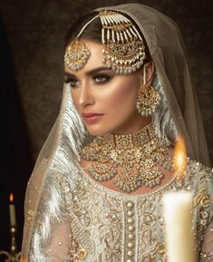 Make to order according to requirements. Make to order according to requirements. 7 to 35 days world-wide delivery. Pakistani Bridal Jewelry, Kundan Jewellery Set, Indian Bridal Jewelry Sets, Bollywood Jewelry, Pakistani Bridal Dresses, Nikkah Dress, Indian Wedding Jewellery, Pakistani Bride Hairstyle, Bridal Hijab