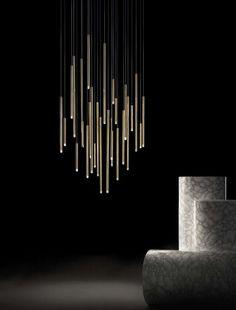 LED Decken Design Lampe Hänge Pendel Leuchte Beleuchtung Wohn Zimmer gewellt