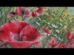 "Realistic watercolor painting ""Poppy field"" by artist Ivo Jordanov - YouTube"