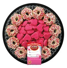 Valentine Shortbread Cookie Party Tray | Lofthouse Cookies