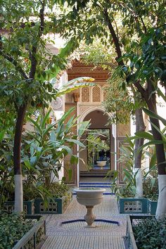 A courtyard at the Bahia Palace (Marrakesh, Morocco)