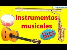 Los instrumentos musicales para niños +SONIDOS   Imágenes de instrumentos musicales y sus nombres - YouTube