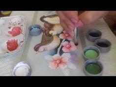 Pintura em tecido. Aprenda fazer o acabamento, fundo e as flores do campo. - YouTube
