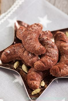 Schokoladen-Kardamom-Kipferl, mal etwas anderes als die klassischen Vanillekipferl