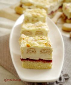 Polish Recipes, Polish Food, International Recipes, Cake Cookies, Cake Recipes, Sweet Treats, Cheesecake, Food And Drink, Yummy Food