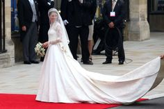 If you saw the royal wedding on April 29, 2011 you've seen this dress. Modeled after Princess Katherine's wedding dress, this dress is ivory satin with delicate lace and bead detail THROUGHOUT. Mori L