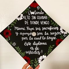 Hello 👋🏼, my name is Fernanda and I'm graduating from CSU Los Angeles. I will be receiving my bachelors in liberal studies along with a… Teacher Graduation Cap, Disney Graduation Cap, College Graduation Pictures, Graduation Cap Toppers, Graduation Cap Designs, Graduation Cap Decoration, Grad Cap, Graduation Theme, Graduation Quotes