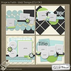 Hope & Faith - 12x12 Temps :: Templates :: SCRAPBOOK-BYTES |Pinned from PinTo for iPad|