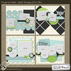 Hope & Faith - 12x12 Temps :: Templates :: SCRAPBOOK-BYTES