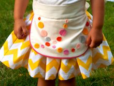 Sewing Pattern: Girls Apron Dirndl Skirt with Multiple Options (PDF. epattern). $6.00, via Etsy.