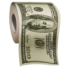 Roll of Toilet Paper One Hundred Dollar Bill $100 - Current price: USD $4.96 - Track it on NOTIVO.COM - #Homes, #IIVs