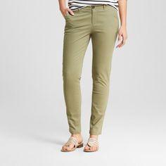 Women's Skinny Chino Pant - Merona Healthy Green 4