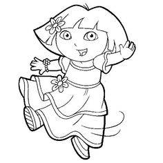 Coloring Page - Dora the explorer coloring