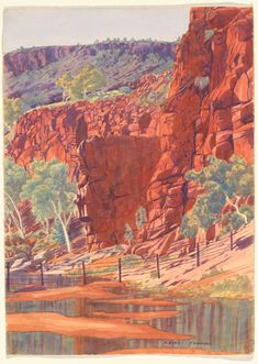 Albert Namatjira: vivid watercolours of the Australian outback – in pictures | Art and design | The Guardian