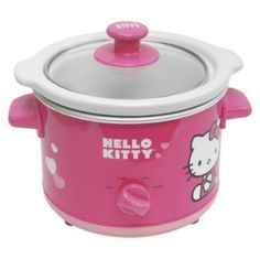 Hello Kitty Slow Cooker-what was I thinking? I bought a crock pot brand slow cooker.I should have bought this one! Slow Cooker Recipes, Crockpot Recipes, Fondue Recipes, Hello Kitty Kitchen, Hello Kitty Items, Hello Kitty Collection, Sanrio, Hot Chocolate, Crock Pot