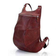 Коричневый кожаный рюкзак ручной работы / Авторские кожаные рюкзаки Leonid Titow