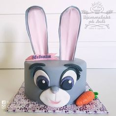 """""""Your Dreams Will Never Come True Without Hard Work"""" so smart you are Juddy Hopps! What a fun cake to make! I loved every second of it. Zootopia Cake, Judy Hopps, Sugar Art, Custom Cakes, Hard Work, How To Make Cake, Amazing Cakes, Dreaming Of You, Barn"""