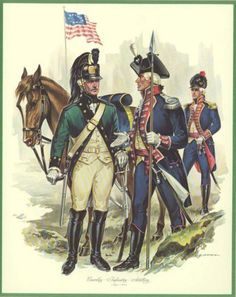 Cavalry, Infantry and Artillery American Revolutionary War, American War, Early American, American History, English Restoration, Army Uniform, Military Uniforms, Independence War, George Patton