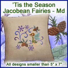 A 'Tis the Season Jacobean Fairies Design Pack - Md