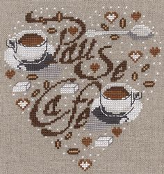 40 (250x265, 69Kb) Cross Stitching, Cross Stitch Embroidery, Cross Stitch Patterns, Cross Stitch Kitchen, Cross Stitch Heart, Blackwork, Graph Design, Heart Patterns, Le Point